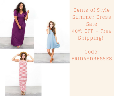 Cents of StyleSummer Dress Sale40% OFF + Free Shipping! Code_ FRIDAYDRESSES