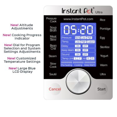 instant pot 3-quart programmable screen
