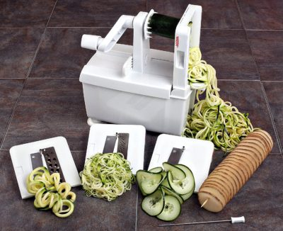 Paderno World Cuisine 4-Blade Folding Vegetable Slicer/Spiralizer Pro